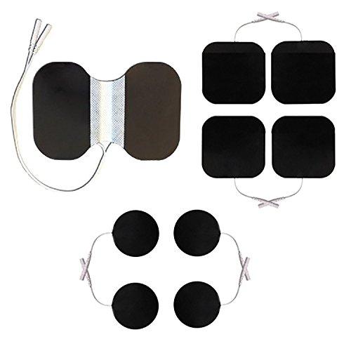Mischset Elektroden/Pads für TENS EMS Reizstromgerät mit 2mm-Anschluss, Nackenelektrode, Rund-Elektroden, 50x50 Elektroden