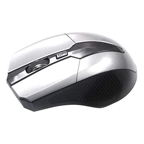 FafSgwq 2.4GHz 4 Key Adjustable 1600DPI Optical Wireless Mouse Gaming Mice for PC Laptop Optical Sensor Adjustable Gaming Mouse FPS Mouse Grey Optical Power Sensor