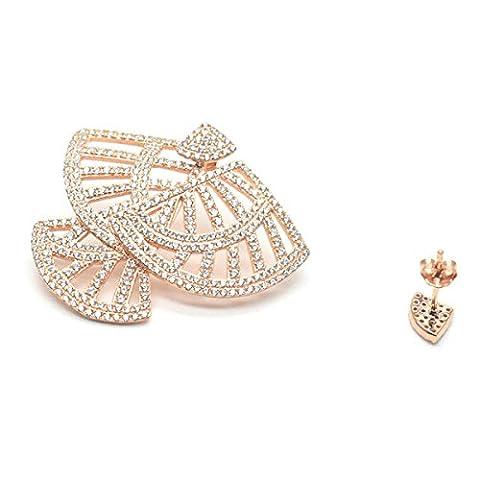 Yrazv Glänzende Ohrringe Neuheit Mini Silber Einzigartig Delicate Nizza Kreativ