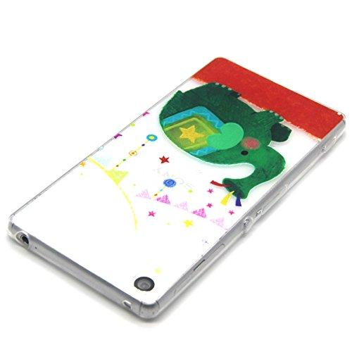 Voguecase® für Apple iPhone 5C, Schutzhülle / Case / Cover / Hülle / TPU Gel Skin (NEW YORK) + Gratis Universal Eingabestift Grüne Elefanten 01