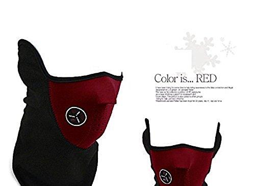 XJoel Anti Kalt Maske Winter Warm Hals Gesicht Maske Paintball Fahrrad Fahrrad Motorrad Rot (Fox Racing Bomber Handschuhe)