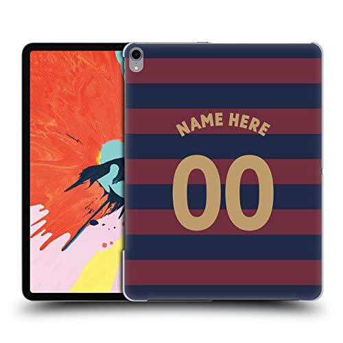 Head Case Designs Personalisierte Individuelle Newcastle United FC NUFC Away Kit 2018/19 Crest Harte Rueckseiten Huelle kompatibel mit iPad Pro 12.9 (2018) -