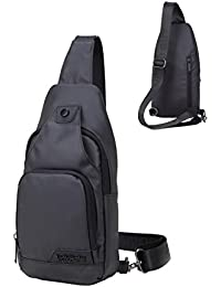 DoubleVillages -Mochila de Hombro Bolsas de Hombro / Bolso Pecho / Bolso bandolera Bolsa Pecho / Bolso Deportivo/ Bolsa Sling CrossBody Messenger Bag -impermeable