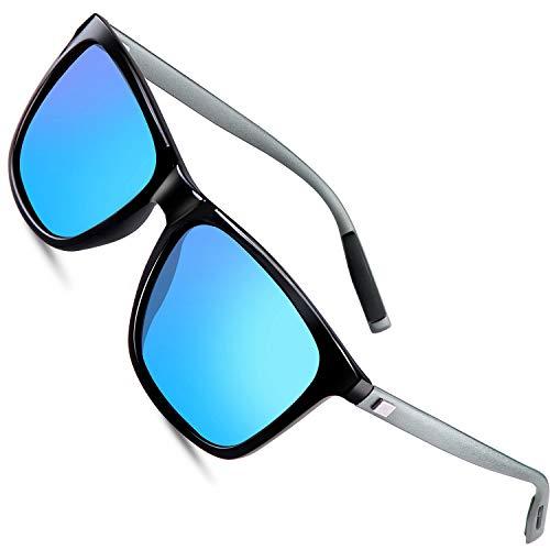 FEIDU Polarized Sonnenbrille Herren damen UV400 Schutz für Herren Autofahren Laufen Radfahren Angeln Golf FD9003 (Blau, 2.24)