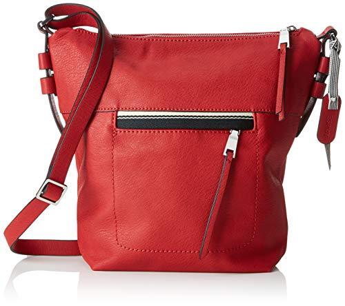 (Esprit Accessoires Damen 029ea1o006 Umhängetasche, Rot (Red) 7,5x27x20,5 cm)
