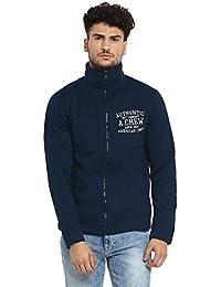 AMERICAN CREW Men's Cotton Polyester Fleece Jacket