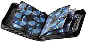 Hama CD Tasche für 160 Discs / CD / DVD / Blu-ray (Mappe zur Aufbewahrung , platzsparend für Büro, Wohnzimmer und Zuhause, Transport-Hüllen) Schwarz