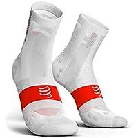 Compressport - Calcetines de Ciclismo Ultralight bike V3.0 [Compressport] - T3, Blanco