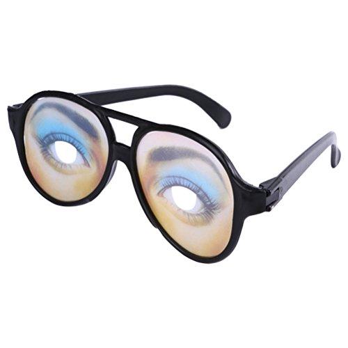 Amosfun Lustige Gläser Hilarious Brillen Disguise Brillen für Halloween Fools Day Decor Halloween Kostüme (Frauen) (Lustige Halloween-kostüm Für Frauen)