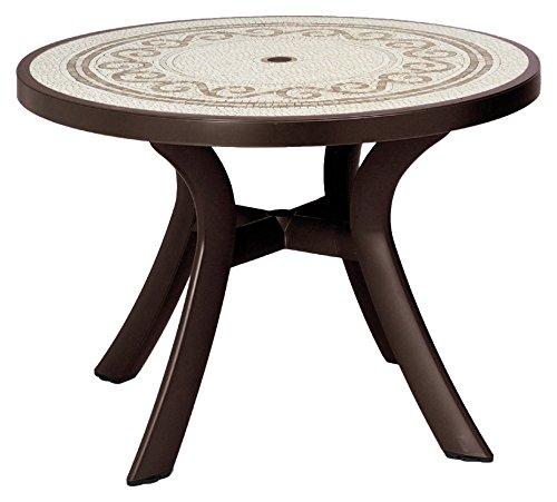 Nardi 100cm Toscana Ravenna Mosaic Top Round Table - Coffee