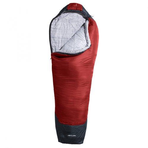 Nordisk Mumienschlafsack Puk +5° XL Size ribbon red/black
