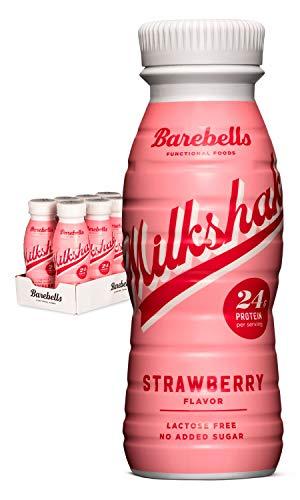 Barebells Protein Milkshake Erdbeere (Strawberry) 8 x 330 ml| Mit hohem Proteingehalt | Ohne...