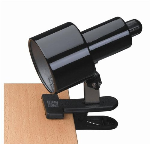 Lite Source LSF-112BLK Clip-on Clamp-on-Lite, Black Shade by Lite Source -