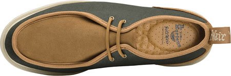 Dr. Martens Mens Leverton Oxford Army Green/Biscuit 12oz Waxy Canvas/Hi Suede WP