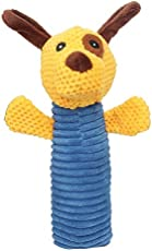 SRI High Quality Comfortable Dog Squeaky and Chew Plush Toy for Cat and Puppy Pack of-2 (Style-V)