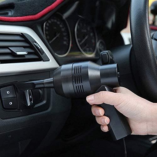 Auplew Mini USB Aspirador de Coche, Aspirador de Mano Aspirador de Poder de succión Fuerte para Limpieza...