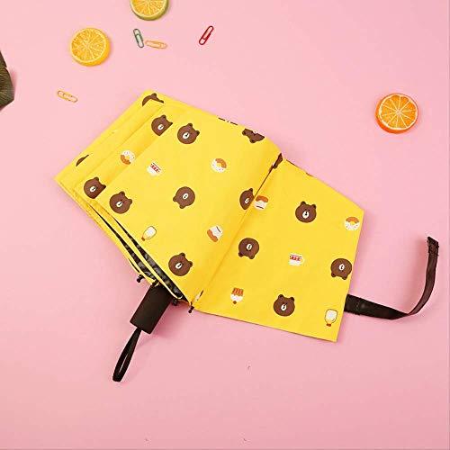 Sonnenschirm für Damen, regendicht, UV-Schutz, faltbar, mit Cartoon-Motiv