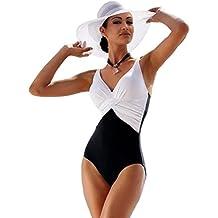 562d6b24b1f69 Bikini Natacion Traje de Baño Una Pieza Bañador Mujer Alta Cintura Push Up  ...