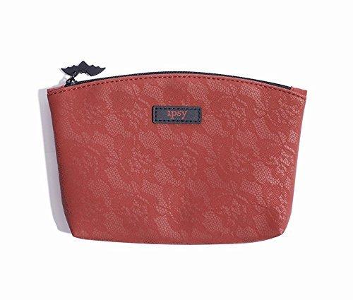 Ipsy Glam Tasche - rot Crimson Rose Spitzen-Design - Reißverschluss