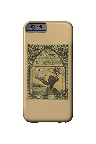 Hotel de Londres Vintage Poster (artist: Mataloni) Italy c. 1897 (iPhone 6 Cell Phone Case, Slim Barely There) (Hotel Londres)
