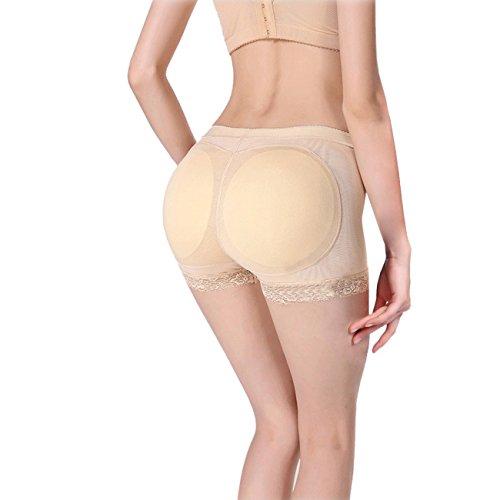 THEE Damen Körperformer Unterwäsche Butt Lifter Buttock Fake Butt Briefs Hip