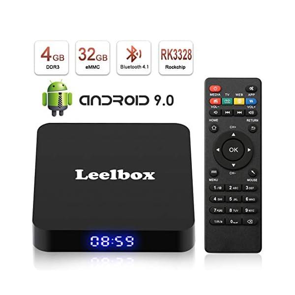 Android 9.0 Leelbox Updated Q4 Android Box Quad Core 4GB RAM 32GB ROM RK3328 Quad-core, Support BT 4.1/WiFi/3D/4K/H.265/USB 3.0 [2019 Version] 41oBr 2B FpeL