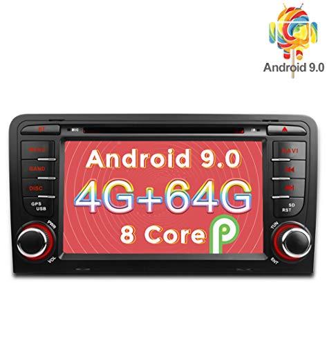 Freeauto Android 9.0 Radio Estéreo Coche 4GB RAM