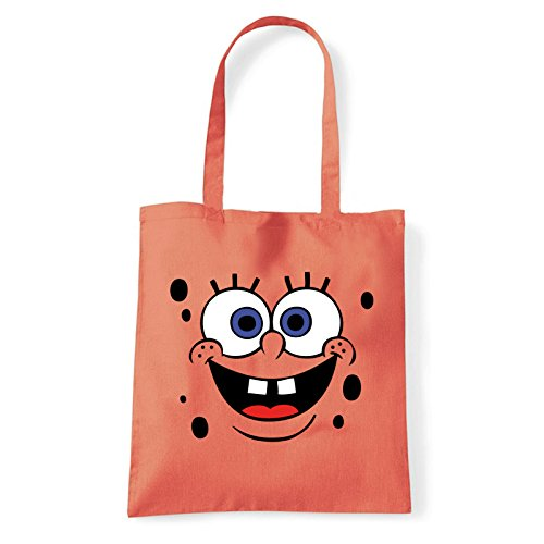 Art T-shirt, Borsa Shoulder spongebob Corallo