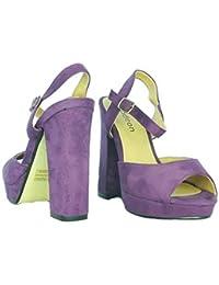 Femmes Odeon Faux Daim Sandales Plateforme Bout Ouvert Chaussures Décontractées Classiques