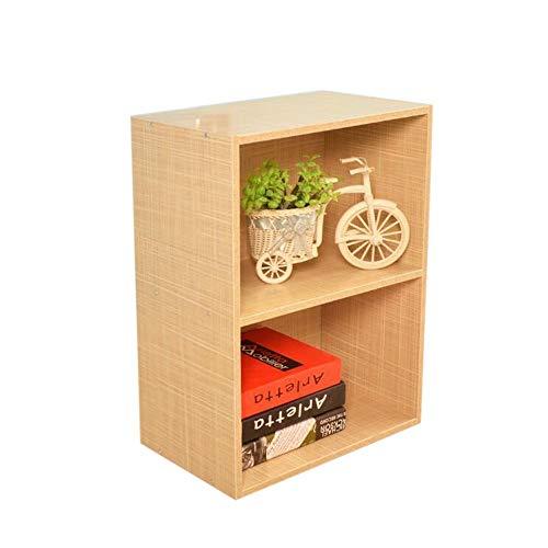 JCNFA Doppel Bücherregal Freistehend Vitrine Platz Sparen Mit Backplane Speichereinheit Für Wohnzimmer (Farbe : Cloth Color, größe : 15.74 * 11.41 * 21.65in) -