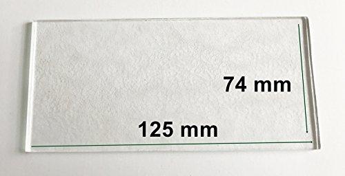 Ersatzglas für Grablaterne/Grablampe / Grablicht - Kathedral/Strukturglas - Alle Maße Lieferbar - 125 mm x 74 mm