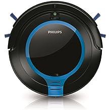 Philips FC8700/01 - Robot aspirador con diseño súper compacto 6 cm, sistema de limpieza de 2 fases, programación 24 h, color negro y azul