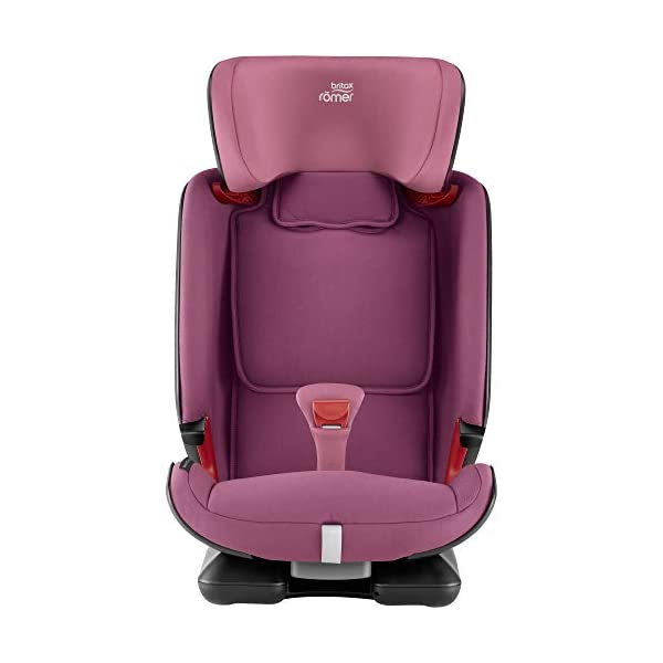 Britax Römer ADVANSAFIX IV M Group 1-2-3 (9-36KG) Car Seat- Wine Rose Britax Römer Our patented pivot link isofix system directs the force first downward into the vehicle seat, and then forward more gently - greatly reducing the risk of head and neck injury for your child We believe that a 5-point harness is the safest way to secure your child in a car seat because it keeps your child safe and tight in the seat's protective shell Soft neoprene performance chest pads fit comfortably on your child's chest. They help reduce your child's movement in the event of a collision, and add even greater comfort to the 5-point harness 5