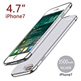 zukabmw iPhone 7 iPhone 8 3500mAh Battery Custodia della Batteria Magro Rechargable Case with Charger Cover Shock Absorption Protective Portatile Charging Astuccio Compatible with iPhone 7