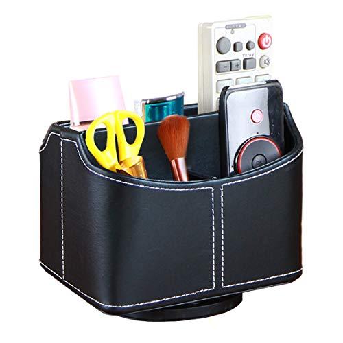 CHIDRA drehbarer Fernbedienungshalter, Make-up-Organizer, Bürobedarf Organizer schwarz - Schlafzimmer Media Storage