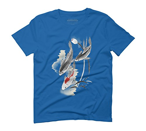Summer Is Here Men's Graphic T-Shirt - Design By Humans Royal Blue