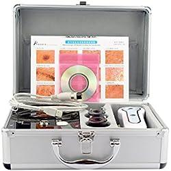 Aluminium Box Haut und Haar anaylizer Detektor Haar Analysegerät Anschluss zu TV Monitor vergrößert 50mal auf Haut 200mal auf Kopfhaut bakterielle Infektionen Haarfollikel elitzia 801ba