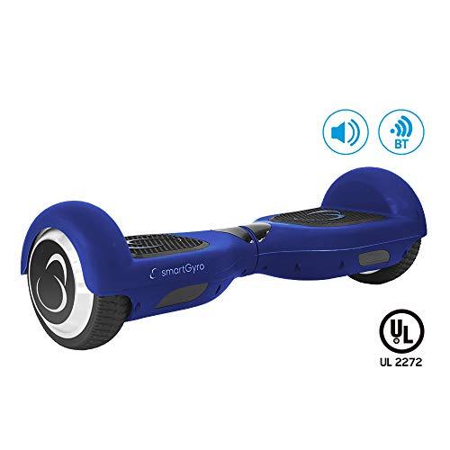 SMARTGYRO X2 UL Blue - Patinete Eléctrico Hoverboard, Ruedas de 6,5' antipinchazos, Potente batería de Litio, Bluetooth, Altavoz, Vel. máxima 12 Km/h, Autonomía de 20 Km, Certificado UL, Color Azul
