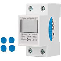 Digital 1-Phase 2 Wire 2P DIN-Rail Electric Meter Electronic KWh Meter 220V 5(80) A