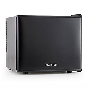 Klarstein • Geheimversteck • Minibar • Mini-Kühlschrank • Getränkekühlschrank • A+ • 17 Liter • ca. 38,5 x 33,5 x 41,5 cm (BxHxT) • niedriges Betriebsgeräusch • 38 dB • Regaleinschub • stufenloser Temperaturregler • platzsparend • matt-schwarzes Gehäuse •