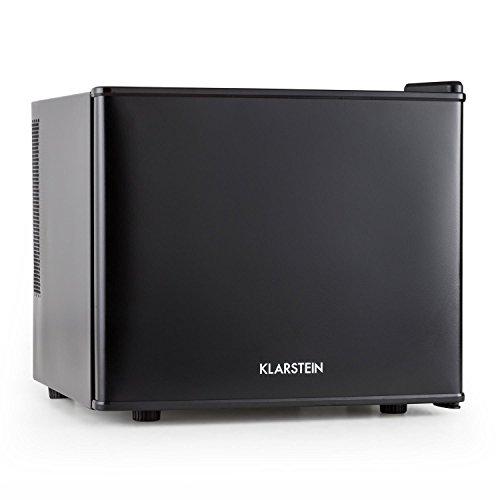 Klarstein • Geheimversteck • Minibar • Mini-Kühlschrank • Getränkekühlschrank • A+ • 17 Liter • ca. 38,5 x 33,5 x 41,5 cm (BxHxT) • niedriges Betriebsgeräusch • 38 dB • Regaleinschub • stufenloser Temperaturregler • platzsparend • matt-schwarzes Gehäuse • schwarz