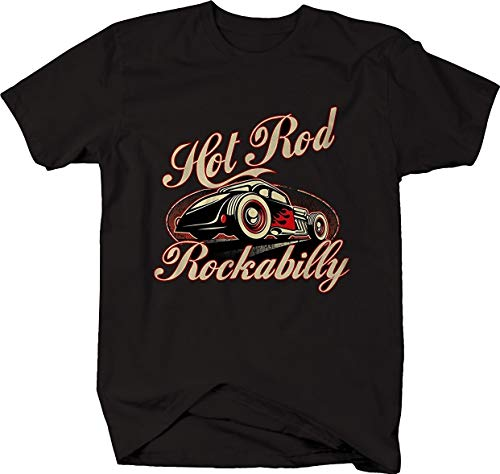 Hot Rod Rockabilly Rat Deuce Coupe Vintage 1950's Pinup Tshirt