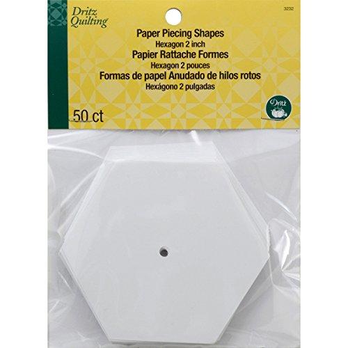 Dritz Quilting Papier hexagon-2-inch nahtzugabe 50/Pkg