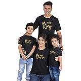 Famille Equipée Été T-Shirt King Queen Prince Princess Tenue Maman Papa Fille Fils...