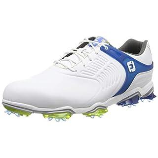 Footjoy Men's Tour S Golf Shoes, White (Blanco/Azul 55301), 8 UK