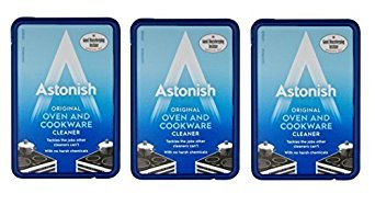 3 x Astonish Oven & Cookware Cleaner Cleaning Paste Enamel Ceramic Upvc Metal 150g