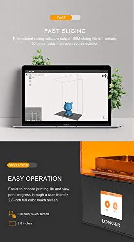 Orange 10 LCD 3D-Drucker Longer SLA Intelligente Unterstützung Schnelles Schneiden von UV-Licht aushärtendem UV-Harz 3D Drucker - 7