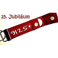 25. Jubiläum Jahrestag Geburtstag - Schlüsselanhänger mit Einkaufschip, Geschenk zum Firmenjubiläum, Geschenk zur Silberhochzeit, 25. Hochzeitstag, Betriebszugehörigkeit