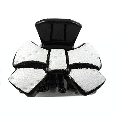 rougecaramel - Accessoires cheveux - Mini pince crabe cheveux fantaisie 2.5cm - blanc