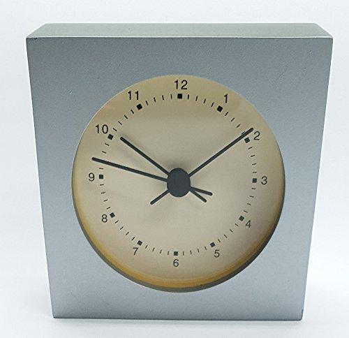 a75ffe59cf46c Horloge métal pour bureau gris Montre Métal pour bureau